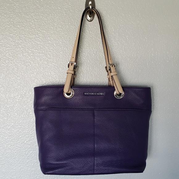 a11820194fd1 Michael Kors Bedford TZ Pocket Tote Purple
